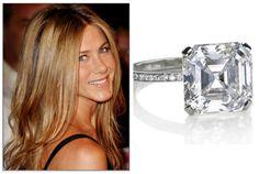 3-4 carat William Goldberg Asscher cut diamond on a delicate pave band.