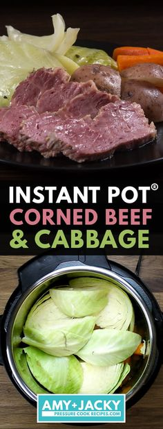 instant pot recipes Make this Easy Instant Pot Corned Beef and Cabbage (Pressure Cooker Corned Beef and Cabbage) for St Patrick's Day! Best Instant Pot Recipe, Instant Recipes, Instant Pot Dinner Recipes, Recipes Dinner, Corned Beef Recipes, Meat Recipes, Corned Beef Brisket, Crock Pot Corned Beef, Corned Beef