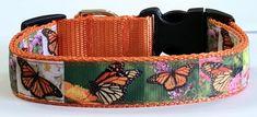 Bright MonarchButterflies Dog Collar/Realistic Monarchs Collar; Designer Dog Collar; Pet Accessories/Supplies, Doggie/Vet Gift by TwistnShoutDesigns on Etsy