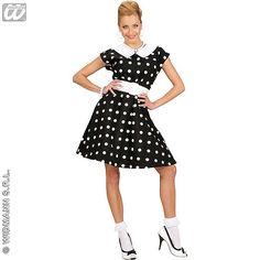 Disfraz en negro de Chica Años 50 #disfraces
