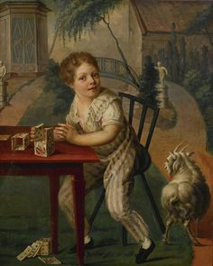 https://flic.kr/p/r4Nyub   18th C. FRENCH SCHOOL - A BOY PLAYING CARDS AT A TABLE