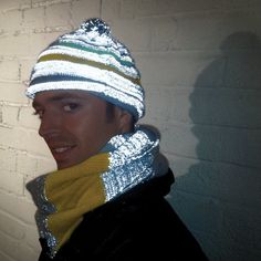 Reflective Woolly Hat & Helmet Cover (Multicolour): Amazon.co.uk: Clothing