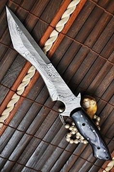 Perkin Knives - Handmade Damascus Steel Hunting Knife Full Tang - Work of Art
