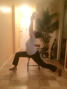 Chair Yoga - Peaceful Warrior  Regardless of your age, level of activity or physical challenge, you will experience some form of health benefits from practicing and implementing chair yoga into your daily exercise routines.