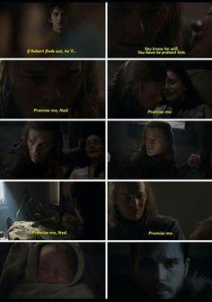 Lyanna Stark, Ned Stark and Jon Snow Targaryen