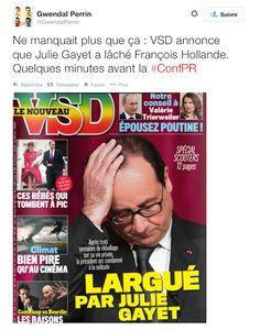 "Selon ""VSD"", Julie Gayet a largué François Hollande !"