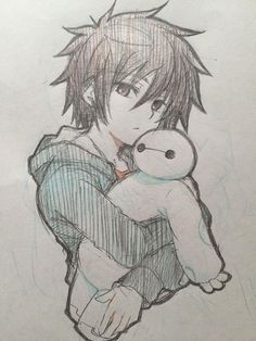 The drawing anime boys Anime Drawings Sketches, Cool Art Drawings, Anime Sketch, Manga Drawing, Disney Drawings, Manga Art, Baymax Drawing, Drawing Ideas, Pencil Drawings