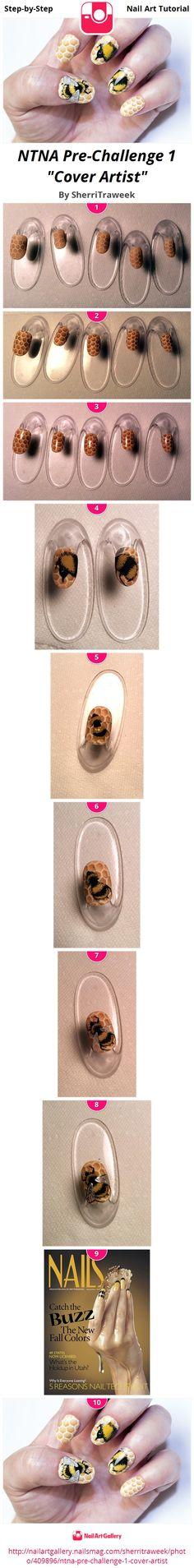 "NTNA Pre-Challenge 1 ""Cover Artist"" - Nail Art Gallery Step-by-Step Tutorial Photos"