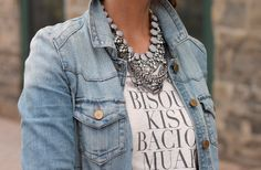 Layered necklaces from A Beautiful Mess.