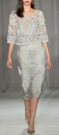 MARCHESA 2014 Love the top - the skirt - not so much