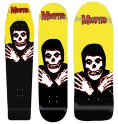 Skateboard Deck Art, Skate Art, Skate Decks, Thrash Metal, Misfits, Skateboards, Punk, Culture, Superhero