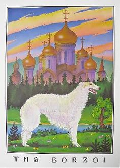 """Borzoi"" - Monte Dolack  Monte is a friend of mine from Missoula Montana.  I have the artist copy of this.  Love and cherish it!  Modeled after the sire of my dogs."
