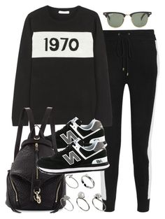 """Sin título #2403"" by hellomissapple ❤ liked on Polyvore featuring moda, Banjo & Matilda, Bella Freud, New Balance, Rebecca Minkoff, Ray-Ban e ASOS"