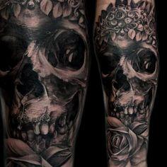 Awesome Black And Gray Tattoo By Tony Mancia