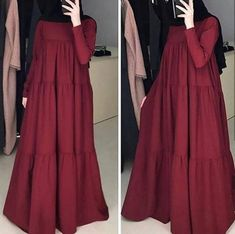 Hijab Fashion 2016, Muslim Women Fashion, Abaya Fashion, Fashion Outfits, Mode Abaya, Mode Hijab, Stylish Dresses For Girls, Simple Dresses, Farasha Abaya
