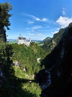 Panorama of Neuschwanstein Castle by Alexander Hartmann / 500px