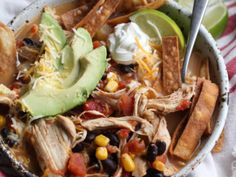 Crockpot Chicken Tortilla Soup is a Tex Mex recipe worth repeating! It's a flavor packed EASY soup recipe that is perfect to make ahead on busy nights. Great Chicken Recipes, Easy Soup Recipes, Crockpot Recipes, Creamy Chicken And Noodles, Chocolate Covered Graham Crackers, Biscuit Cinnamon Rolls, Homemade Egg Noodles, Hawaiian Sweet Rolls, Chocolate Mousse Recipe
