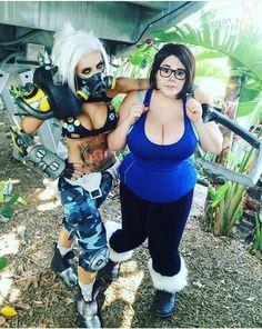 Overwatch Mei & Roadhog CosplayYou can find Jessica nigri and more on our website. Roadhog Cosplay, Cosplay Anime, Cosplay Outfits, Best Cosplay, Cosplay Girls, Jessica Nigri Cosplay, Overwatch Mei, Overwatch Costume, Vrod Harley