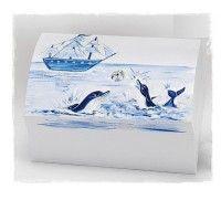 Χάρτινο κουτί Βάπτισης με σχέδιο καραβάκι - δελφίνια .  #xartino_kouti_vaptishs #kouti_vaptishs_delfinia #kouti_vaptishs_delfinia_karavi