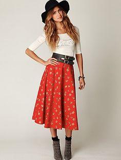 love the tea length skirt. love the whole look really...