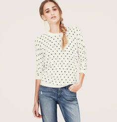 Night Star Print Sweater | Loft