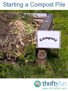 This is a guide on starting a compost pile. Starting your own compost pile can save you money on your garbage bill, reduce the waste you send to the landfill, and will give you your own organic compost that you can use to amend the soil in your garden beds.