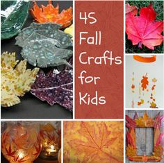 As sad as it is to say goodbye to summer, the impending autumn months mean FALL CRAFTS! What's better than fall crafts for kids that can be given as gifts and used as decor?