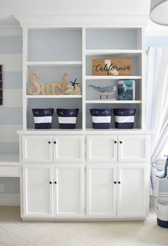 You can never have too much storage in a toddler's room!