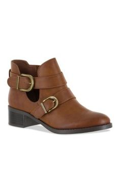 Easy Street Brown Badge Bootie