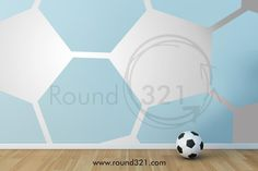 Kicks Soccer Ball Wall Decal - Children's Room, Infant's Room or Office Decor For The Soccer Fan This Decal Will Transform Any Wall Into A Soccer Ball