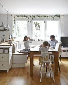 Use the kitchen table for different activities