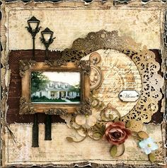 Layout with Time Traveler's Memory papers by #primamarketing