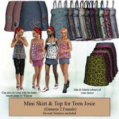 182 G2F Teen Josie Mini Skirt & Top