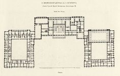 Beletage des Michailowskipalastes in St. Russian Architecture, Historical Architecture, Architecture Plan, Interior Architecture, Architectural Floor Plans, Architectural Drawings, Romanov Palace, Empire Design, Urban Design Plan