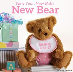 First teddy, forever friend! #NewBaby #BabyGift #TeddyBear #VermontTeddyBear Vermont Teddy Bears, We Bear, Unique Baby Gifts, Teddybear, Friends Forever, Baby Love, New Baby Products, Dolls, Baby Dolls
