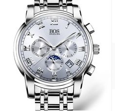ANGELA BOS Sub Dial Work Waterproof Luminous Mens Watches Top Brand Luxury 2016 Men's Watches Quartz-watch Wrist Watches For Men - White Like if you remember Get it here Watches For Men Unique, Luxury Watches For Men, Cool Watches, Rolex Watches, Wrist Watches, Affordable Watches, Top Luxury Brands, Hand Bracelet, Rolex Datejust