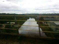 Crossing the river Weaver on a train between Runcorn and Frodsham