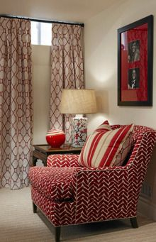 I don't love the color red for our LR but I do like the idea of a boldly patterned chair