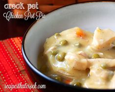 Winter just won't quit! If you are looking for a yummy way to warm up you and yours, try this Crock Pot Chicken Pot Pie! Delicious and easy to make!
