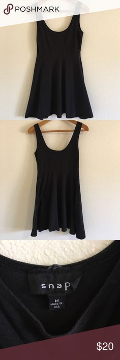 "Urban Outfitters black skater dress Urban Outfitters Snap black skater dress.  Length is approximately 32.5"" bust flat is 15"" and waist is 13"" flat unstretched.  95% cotton 5% spandex RN 66170 Urban Outfitters Dresses Mini"