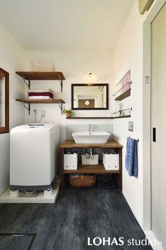 Baby Storage, Laundry Room Storage, Bathroom Storage, Bathroom Toilets, Laundry In Bathroom, Washroom, Muji Home, Rack Tv, Natural Interior