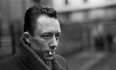 """Photo by Henri Cartier-Bresson of Albert Camus, Paris 1944 """"Mother died today. Or maybe yesterday; I can't be sure."""" Albert Camus, """"The Stranger"""" 1942 Henri Cartier Bresson, The Stranger, Emotional Photography, Writers And Poets, Lost In Translation, Portraits, French Photographers, Magnum Photos, The New Yorker"""