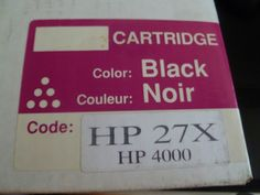 You are buying one Laser Tone Cartridge, ink color black. HP 27X This Cartridge comes as is.