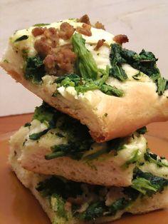 Focaccia broccoli e salsiccia per l' Epifania ,ricetta soffice