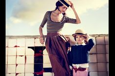yes! mother and son/daugher. pose, style, etc.