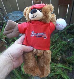 Atlanta Braves Baseball Bear Plush Official MLB Product New With Tags #AtlantaBraves
