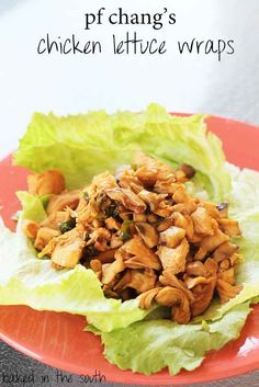 PF Chang's Lettice Wraps  Get recipe http://bakedinthesouth.com/2012/09/pf-changs-chicken-lettuce-wraps/
