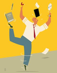 Conceptual editorial illustration: publisher, book, ipad, operating pressure.   Digitalisation: ' Pressure on traditional educational publishers'.  ALL RIGHTS RESERVED © RONALD SLABBERS