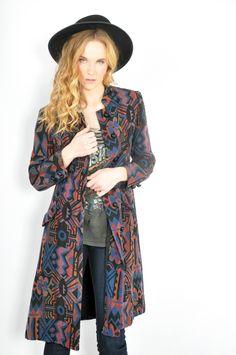 Aztec skinny coat @thriftwares