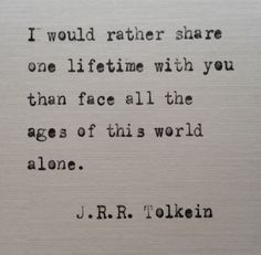 JRR Tolkein quote hand typed on antique typewriter
